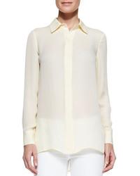 Georgette button down blouse buttercup medium 256772