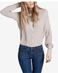 Free People The Best Button Down Blouse