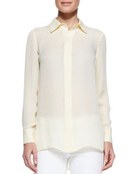 Vince georgette button down blouse buttercup medium 256772