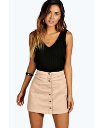 Bella button front mini skirt medium 373942