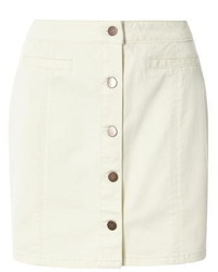 Dorothy Perkins Ecru Denim Button Mini Skirt