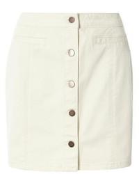 Dorothy Perkins Ecru Denim Button Mini Skirt