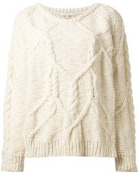 Beige cable sweater original 1337253