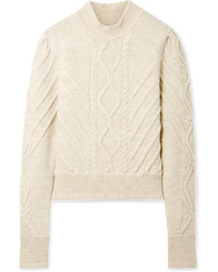 Isabel Marant Brantley Cable Knit Wool Blend Sweater