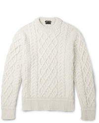 Tom Ford Cable Knit Merino Wool And Cashmere Blend Sweater