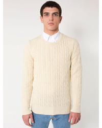 Cable knit sweater medium 160001