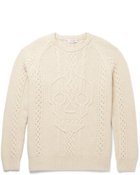 Alexander McQueen Cable Knit Wool And Cashmere Blend Sweater