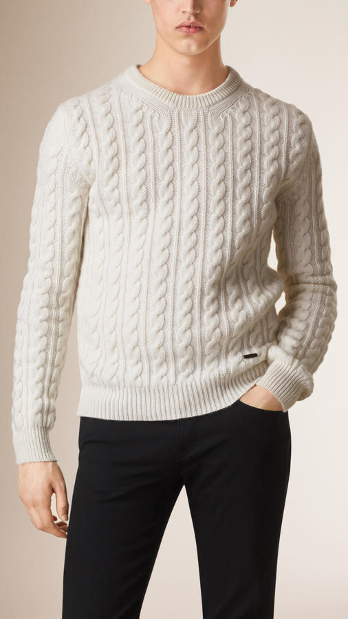 48fe5bcf501c Burberry Cable Knit Wool Cashmere Sweater