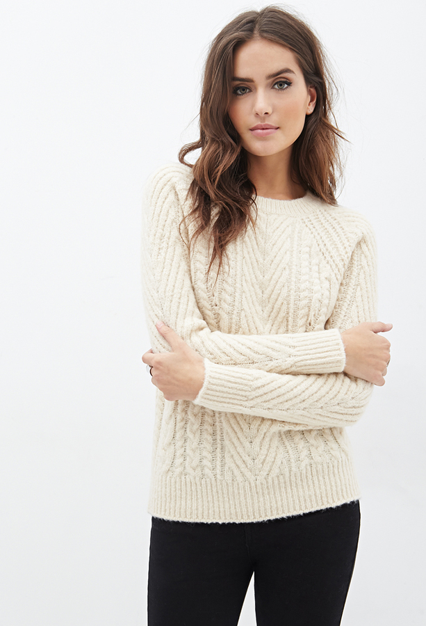 b87f91bcc Forever 21 Contemporary Cable Knit Sweater