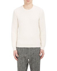TOMORROWLAND Honeycomb Cable Stitch Sweater White