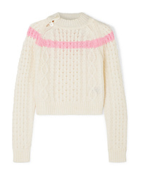 Preen Line Jessica Striped Cable Knit Sweater