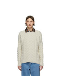 Loewe Off White Cable Knit Sweater