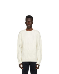 Norse Projects Off White Wool Arild Rope Sweater