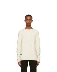 Alexander McQueen Off White Wool Sweater