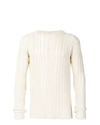 Rick Owens Ribbed Open Knit Sweater Unavailable