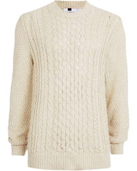 Topman Off White Cable Knit Sweater | Where to buy & how to wear