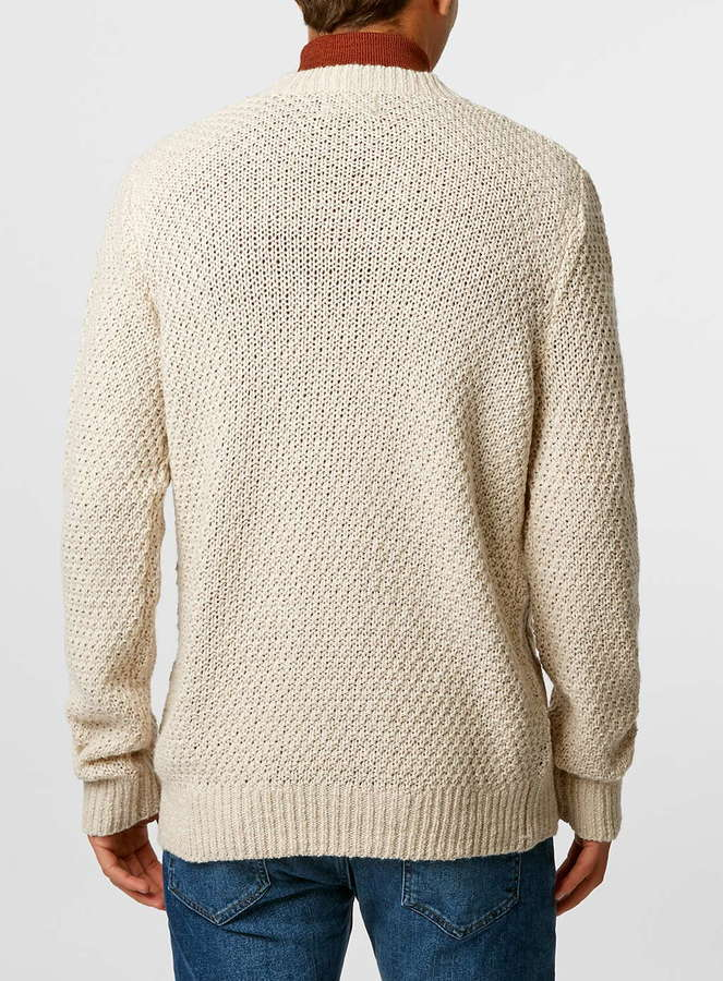 Off White Cable Knit Sweater