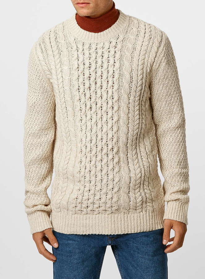 Topman Off White Cable Knit Sweater Where To Buy How To Wear