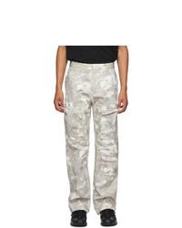 Marcelo Burlon County of Milan Beige Camo County Cargo Pants