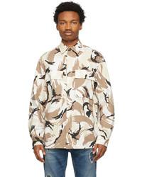 Kenzo Beige Tropic Camo Over Shirt