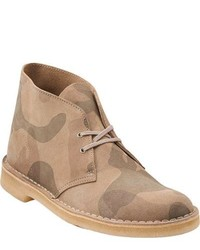 Clarks Desert Boot Stone Camouflage Suede Boots