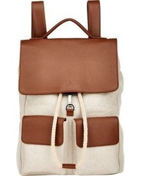 Drawstring close backpack nude medium 299164