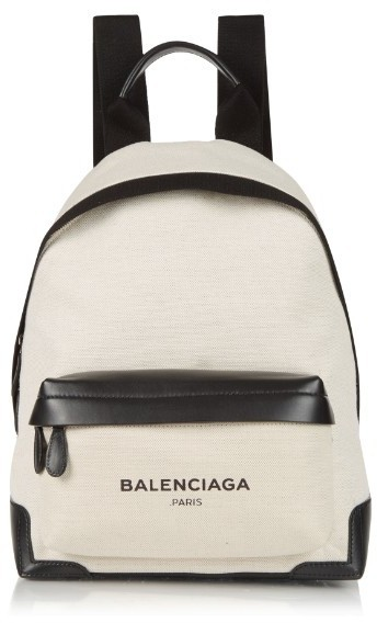 d4688e06f Balenciaga Navy Canvas And Leather Backpack, $1,195 | MATCHESFASHION ...