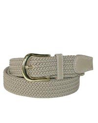 CTM Braided Belt Beige Small