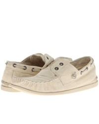 John Varvatos Schooner Boat Slip On Shoes Ivory