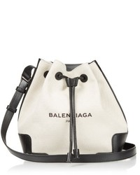 Canvas and leather bucket bag medium 527481