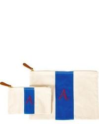 Personalized canvas clutch blue medium 963628