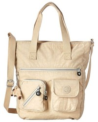 Beige Canvas Crossbody Bag