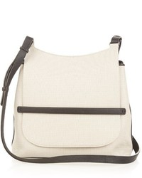 Canvas and leather cross body bag medium 440561