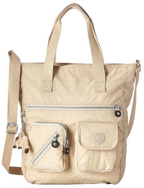 Beige Canvas Crossbody Bags Kipling Johanna Tote Handbags