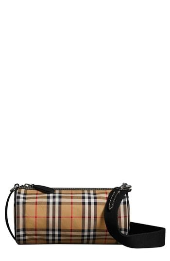 603aad9096 Burberry Small Kennedy Vintage Check Canvas Duffel Bag, $1,190 ...