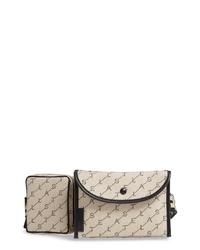 Stella McCartney Monogram Canvas Belt Bag