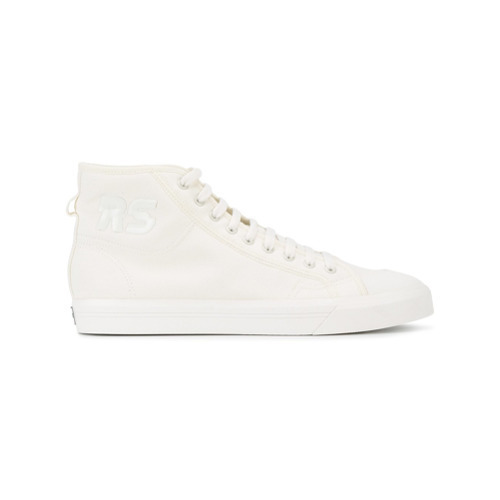 6b74f789a09634 ... Canvas High Top Sneakers Adidas By Raf Simons Cream Spirit Hi Top  Trainers ...