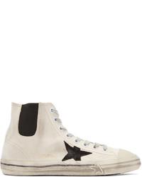 Golden goose white canvas v star sneakers medium 590185
