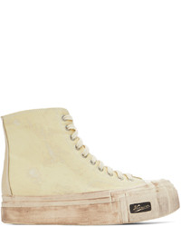 VISVIM Off White Skagway G Hi Pattern Sneakers