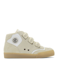 MM6 MAISON MARGIELA Taupe And White 3  Sneakers