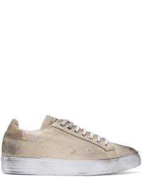 Beige worn out retro sneakers medium 3656136