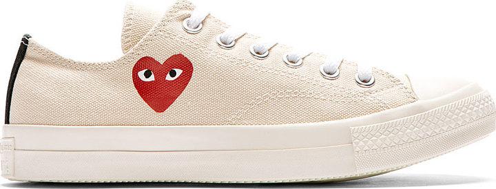 ... Low Top Sneakers Comme des Garcons Comme Des Garons Play Beige Heart  Logo Converse Edition Sneakers ... d886c5b7f