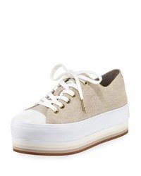 MICHAEL Michael Kors Michl Michl Kors Ronnie Canvas Platform Sneaker Beige