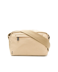 Beige Canvas Messenger Bag