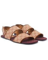 Beige Canvas Sandals