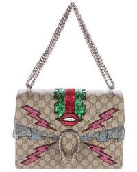 Gucci Gg Supreme Embroidered Dionysus Bag