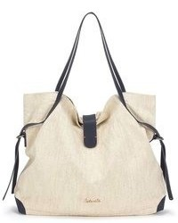 Beige Canvas Tote Bag