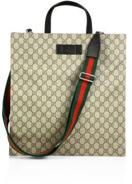 6d743e0aef50 Gucci Gg Adjustable Tote, $1,150 | Saks Fifth Avenue | Lookastic.com