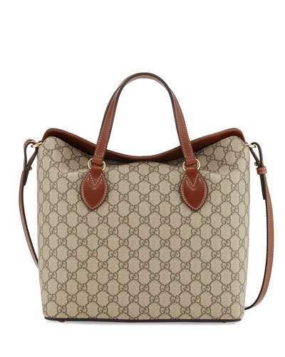 Gucci Gg Supreme Tote Bag Beigeebonycuir