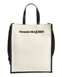 Alexander McQueen Logo Northsouth Canvas Tote